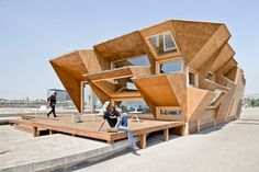 Endesa solar pavilion designed by the institute for advance architecture of catalonia (IAAC)