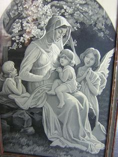 Mary and Jesus with angels