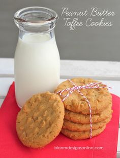 Make It Monday- Peanut Butter Toffee Cookies