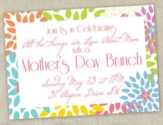 Printable Mother's Day Brunch Invitation