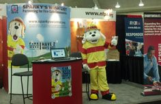 Sparky visits Firehouse Expo 2012!