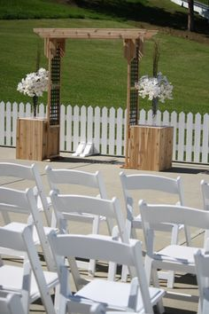 Summer wedding cerem