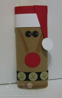 Rudolph Candy Bar stamp, reindeer christma, gift, kraft paper, candi bar