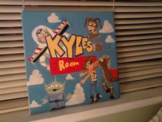Toy Story Customized Wall Art on Canvas by izzieheartsart on Etsy, $45.00