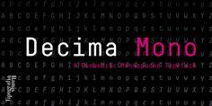 Decima Mono - Webfont & Desktop font « MyFonts