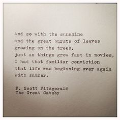 The Great Gatsby Quote Typed on Typewriter by farmnflea on Etsy, $9.00