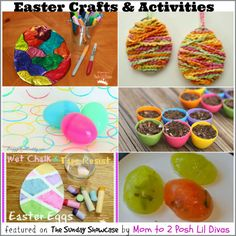 great ideas for easter crafts, art, science experiments and even reusing those plastic eggs for some spring planting