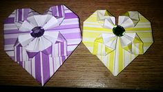 Valentines origami hearts