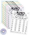Bunco score cards - Party theme