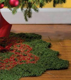 Festive Crochet Tree Skirt
