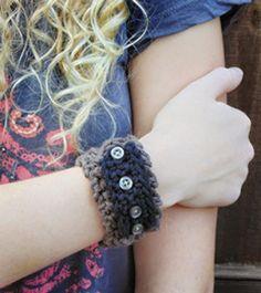 Chic Wrist Cuffs - You'll rock wearing these cute crochet cuffs!