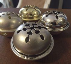 How to tarnish dollar store bells to look like real silver {Tutorial}