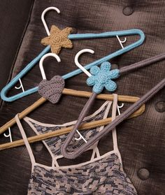 Yarn Covered Hangers Free Crochet Pattern from Red Heart Yarns