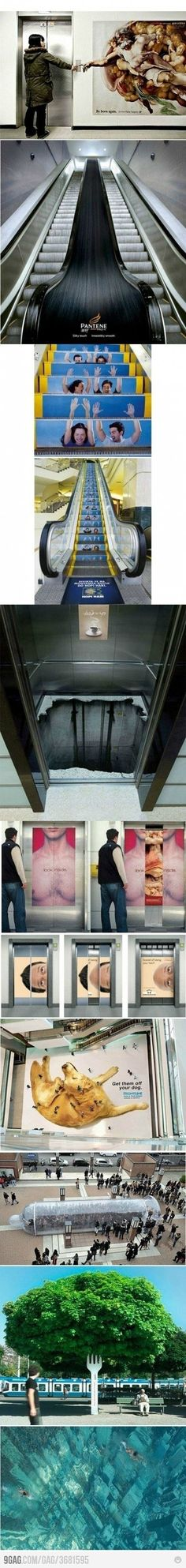 Clever ad campaigns.