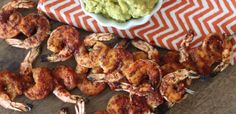 #paleo PaleOMG Spicy Grilled Shrimp with Easy Guacamole grill shrimp, spici grill, easi guacamol, grilled shrimp