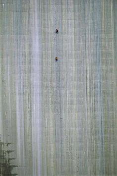 Climbing 165 m. On a Wall