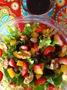 Date-walnut-strawberry salad
