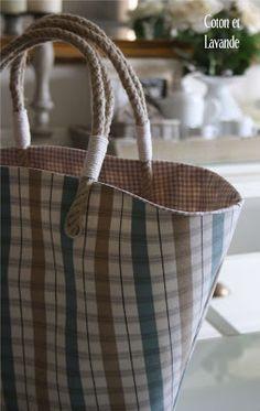 Coton et Lavande: Un bolso para el verano... Tutorial