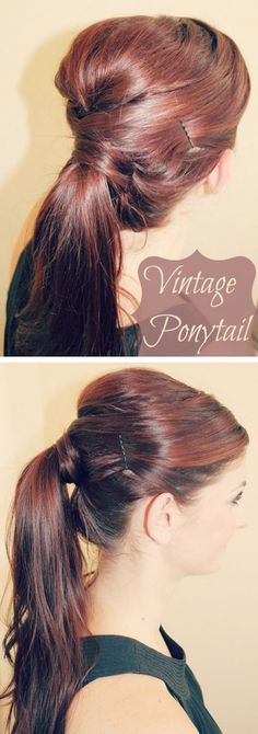 Vintage 60s Ponytail visit us forDIY HAIRSTYLES for 1000's of #hairstyles and #hair advice www.ukhairdressers.com