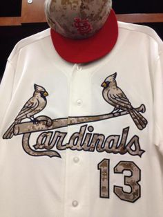 St. Louis Cardinal uniform for Memorial Day 2014.