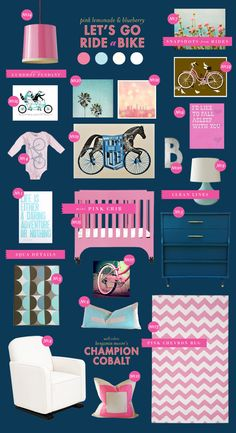 bicycle baby nursery inspiration style board