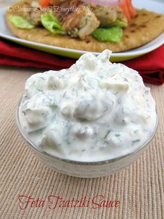 Feta Cheese Tzatziki Sour Cream Sauce