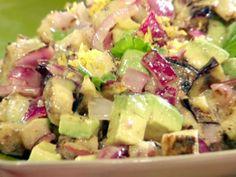Bobby Flay's Grilled eggplant salad