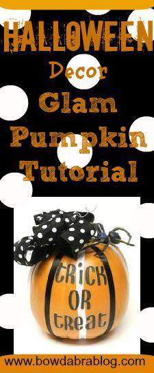 Halloween Glam Pumpkin Tutorial