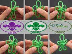 Scouting Knot. This would make a fun slide project.  What boy doesn't like paracord?