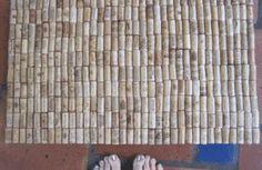 eco craft, cork mat, wine corks, cork craft, wine craft, bath mat, wine bottles
