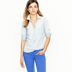 Faded Chambray Pullover JCrew $72