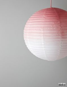 DIY: GRADIENT DYED LAMPSHADE
