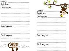 Dictionary Skills - Literacy Activities