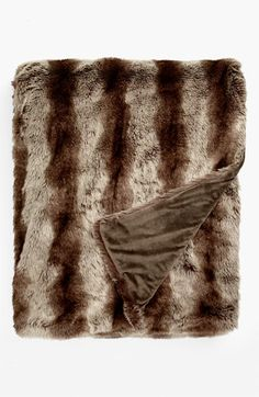 Nordstrom at Home 'Branson' Faux Fur Blanket | Nordstrom