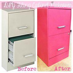 DIY file cabinet makeover- instructions on blog :)