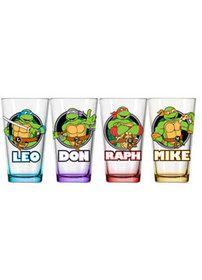 Teenage Mutant Ninja Turtles 4 Pack Glass Set - goHastings $14.94