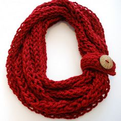 Rudolph's Nose Infinity Scarf - Stand out in a good way with this crochet infinity scarf!