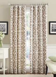 The Marissa Curtain Panel is available in three clean and inviting patterns and has room darkening features to add privacy to your space.