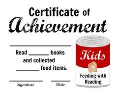 Free printables - Feeding with Reading - great idea to encourage reading and help others. #momsfighthunger #feedingwithreading #goorange #nokidhungry #feedingamerica #kbn cub scout, rais reader, read strategi, librari idea, read reward, school craft