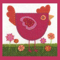 little red hen wool felt applique
