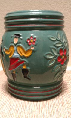 Antique Red Wing pottery Cookie Jar 1940s