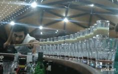 This guy just mixing some drinks. | 35 GIFs Of Individuals Who Really Did Nail It