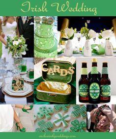 Irish Wedding - St. Patrick's Day Wedding   #exclusivelyweddings