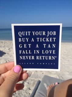 never return - sounds good but I already have the love of my life so I need to talk him into this plan...