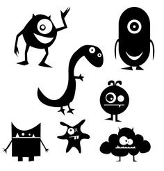 tons of free svg files: KLDezign les SVG silhouett cameo, svg file, free cricut files, monsters inc, free svg, craft projects, free cameo cut files, digi stamps, little monsters