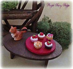 Fairy Garden Miniature Cupcake Tray, Fairy Garden, Miniature Fairy Garden, Fairy Garden Furniture, Fairy Garden Supplies, Fairy Gardens