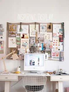 // inspiration board // also, desktop computer