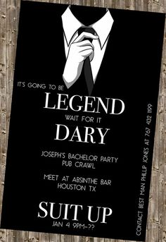 Bachelor Party Invite  legendary HIMYM by DesignsByKepi on Etsy, $6.00