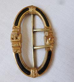 Antique Vintage Victorian Gold Enamel Repousse by vintagelady7, $59.00