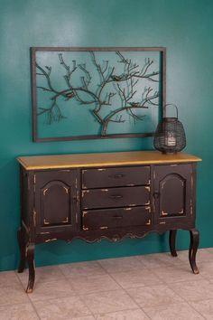 Wood Cabinet.